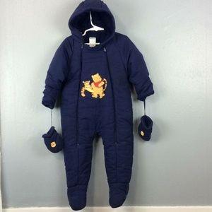 Disney Winnie the Pooh 1Pc Warm Snowsuit Sz 18M
